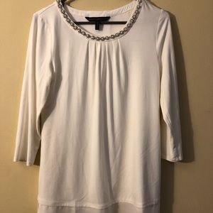 Long sleeve with Beaded Neckline